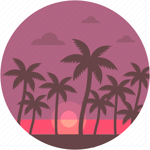 evening, islands, nature, scenery, sunset icon