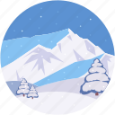 arctic mountains, frozen mountain, landform, midwinter, scenery icon