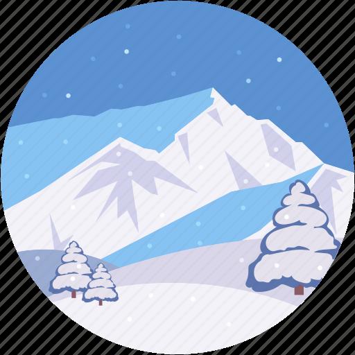 arctic mountains, frozen mountain, landform, midwinter, scenery icon