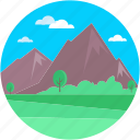 landforms, landmark, paramount pyramids, pyramid mountain, valley icon