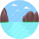 jenny lake, lake, mountainous, norwegian mountain, terrain icon