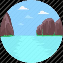 jenny lake, lake, mountainous, norwegian mountain, terrain icon