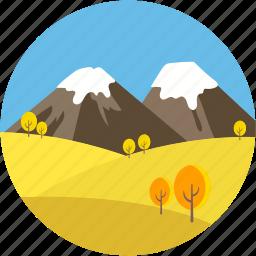 landforms, landmark, paramount pyramids, pyramid mountain, valley icon