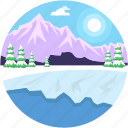 environment, landforms, seaside, terrain, valley icon