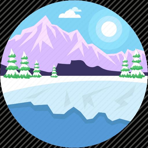 environment, landforms, seaside, terrain, valley icon
