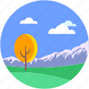 environment, hills, landforms, terrain, valley icon