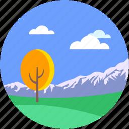 environment, hills, landforms, terrain, valley icon