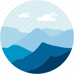 cloudy, island, landforms, landscape, summer icon
