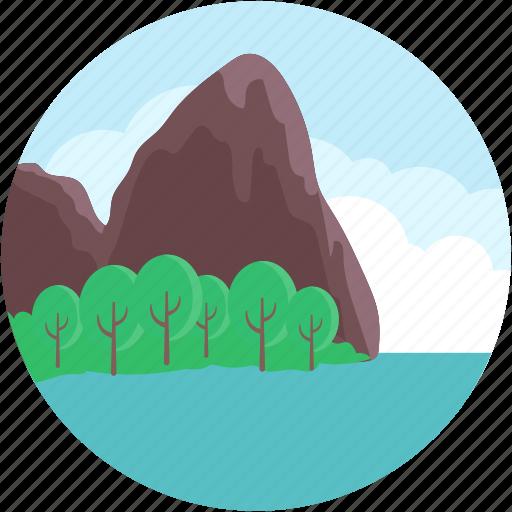 andaman, beach resort, lakeside, railay beach, railay mountain icon