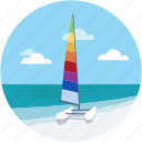 beach, island, sea, seaside, sunfish icon