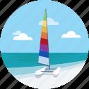 island, seaside, beach, sea, sunfish icon