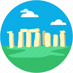 england monuments, monuments, prehistoric, stone, stonehenge icon