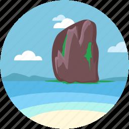 andaman, beach resort, railay beach, railay mountain, seaside icon