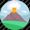 danger, earthquake, erupt, eruption, mountain explosion