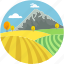 countryside, environment, grassland, meadow, valley icon