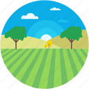 cloud, countryside, environment, garden, terrain icon