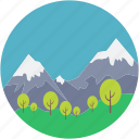 countryside, environment, atmosphere, dale valley, landforms icon