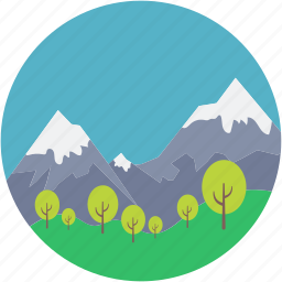 atmosphere, countryside, dale valley, environment, landforms icon