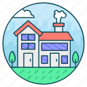 accommodation, homestead, residence, townhome, townhouse icon