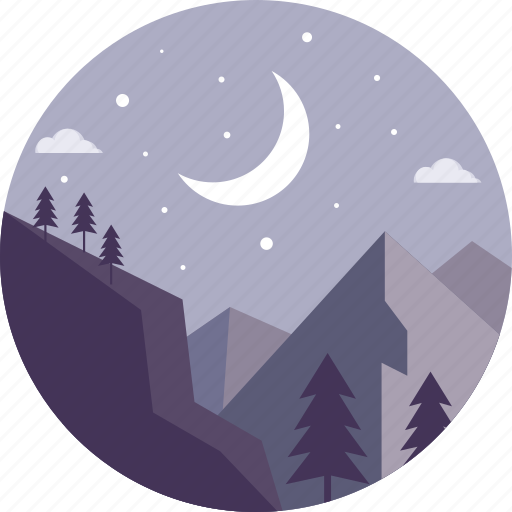 camp, hiking, hills, landscape, mountain, tourism, vacation icon