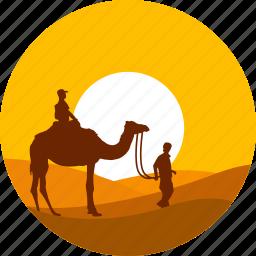 camel, desert, egypt pyramid, summer, sunset, tourism, travel icon