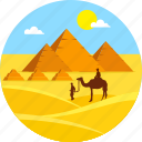 beach, camel, desert, egypt pyramid, landscape, summer, travel