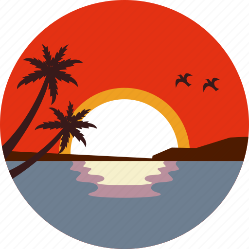 Beach, landscape, ocean, summer, sunset, travel, vacation icon - Download on Iconfinder