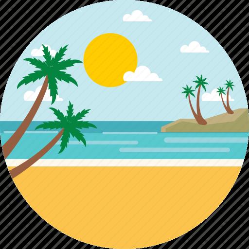 adventure, beach, landscape, ocean, summer, travel, vacation icon