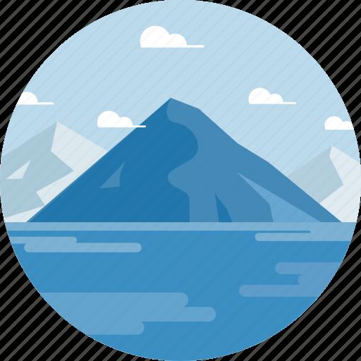 ecology, environment, island, mountain, ocean, sea, travel icon