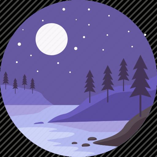 adventure, landscape, mountain, summer, travel, vacation icon