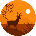 wild, africa, deer, jungle, animal icon