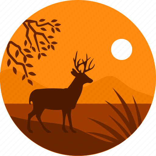 africa, animal, deer, jungle, wild icon