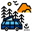 camper, car, journey, travel, vacation, van icon