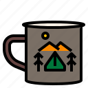 adventure, camping, coffee, drink icon