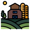 agriculture, farm, farming, field, nature icon