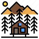 cabin, home, house, hut, nature, wood, wooden icon
