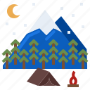 adventure, camping, hiking, mountain, nature, outdoor icon