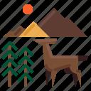 animal, deer, nature, stag, wildlife icon