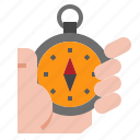 adventure, compass, direction, east, north, south, travel icon