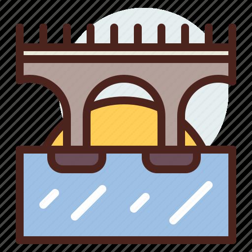bridge, nature, outdoor, over, travel, watwe icon