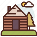 cabin, nature, outdoor, travel icon