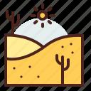 dunes, nature, outdoor, travel icon