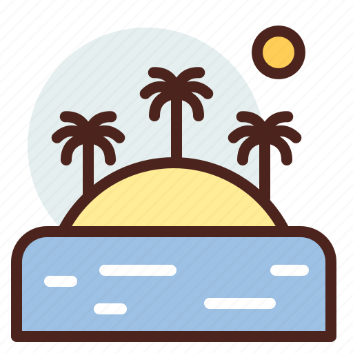 island, nature, outdoor, travel icon