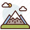 mountains, nature, outdoor, travel icon