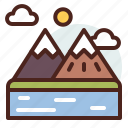 mountains2, nature, outdoor, travel icon
