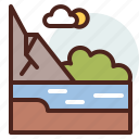 nature, outdoor, river, travel icon