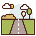 nature, outdoor, road, travel icon
