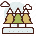 nature, outdoor, snowy, travel, trees icon