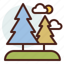 nature, outdoor, travel, trees icon