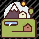nature, outdoor, travel, village icon